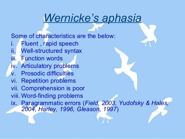 wernicke's aphasia Looking for online definition of wernicke's aphasia in the medical dictionary wernicke's aphasia explanation free what is wernicke's aphasia meaning of wernicke's aphasia medical term what does wernicke's aphasia mean.