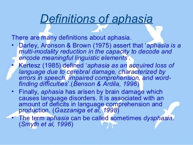 aphasia, Skeleton