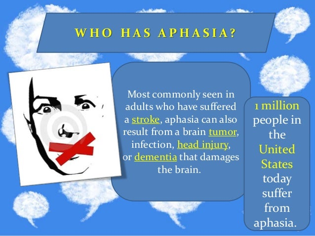 Aphasia and Other Related Disorders