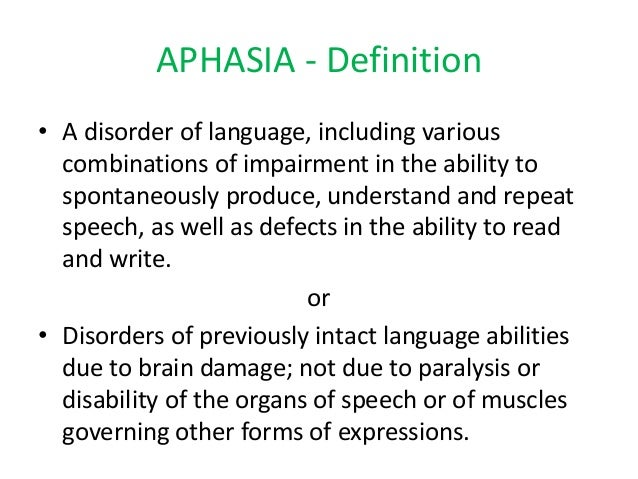 aphasia in brief - dr. kasyapa, Skeleton