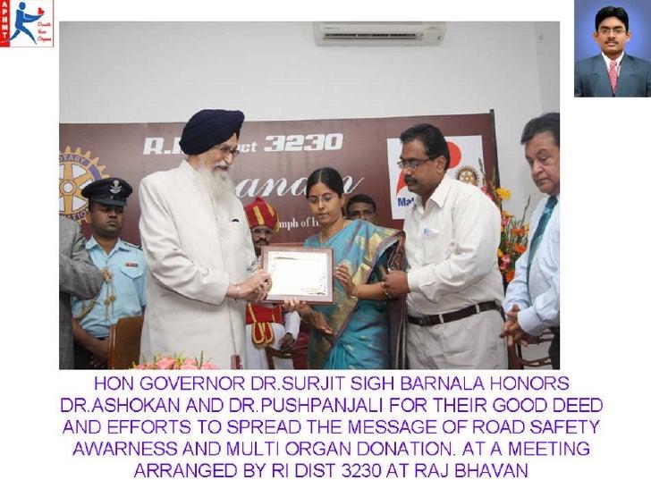 AP Hithendran Memorial Trust Awards On Organ Donation For Dr.Asokan And Dr.Pushpanjali