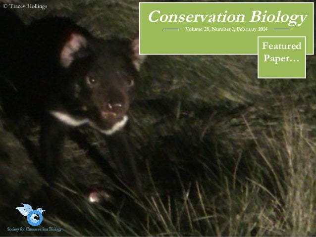 © Tracey Hollings  Conservation Biology Volume 28, Number 1, February 2014  Featured Paper…