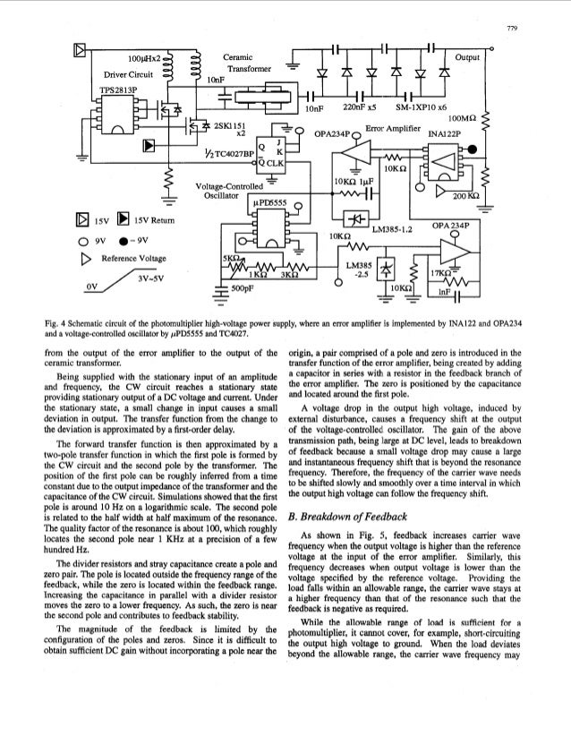 A photomultiplier high voltage power supply irtcorporating a