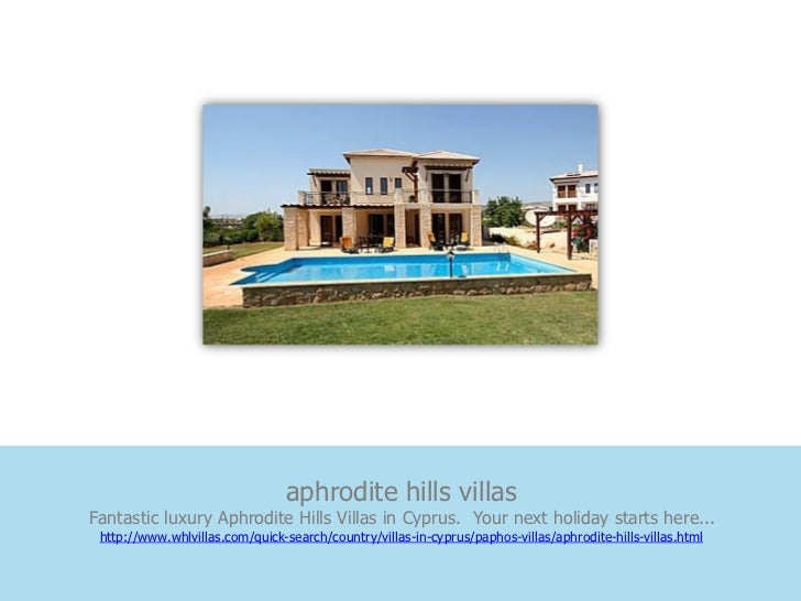aphrodite hills villasFantastic luxury Aphrodite Hills Villas in Cyprus. Your next holiday starts here... http://www.whlvi...