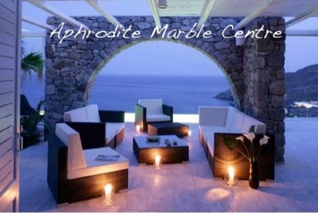 Aphrodite marble centre flagstones
