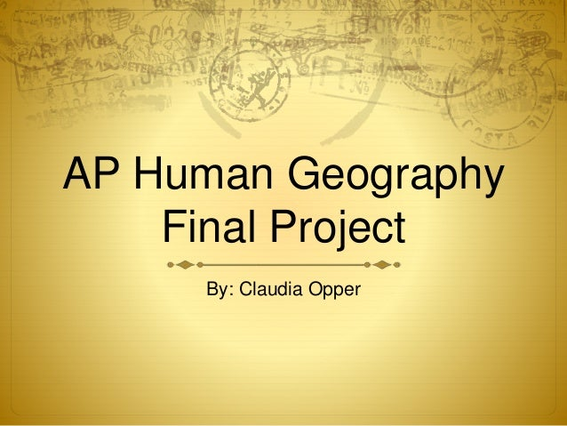 ap bio final project My ap biology class corresponds to the intensive standards brought forth by the  college  students also complete a final project in which they have a choice.