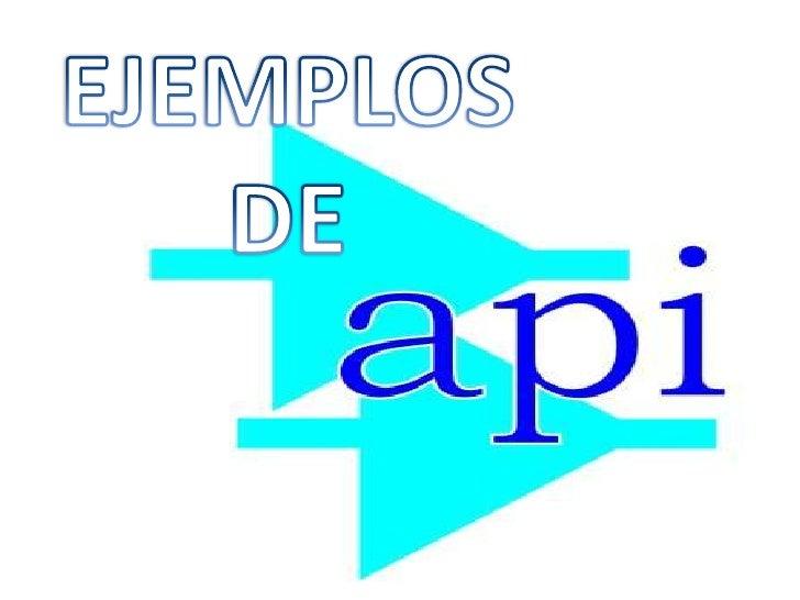 EJEMPLOS DE <br />