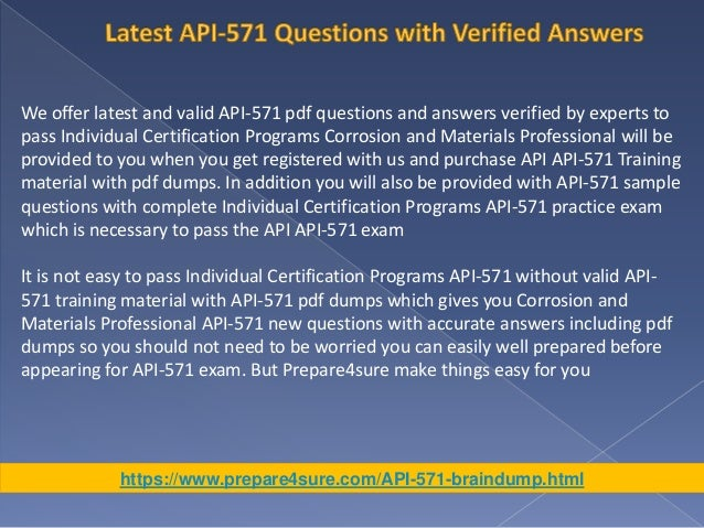 Updated API-571 Training Material - Best Solutions for API-571 Exam S…