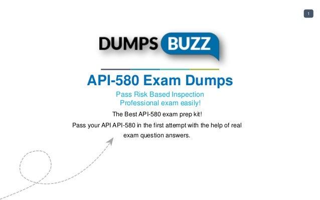 API API-580 Test Dumps new questions for Instant Success