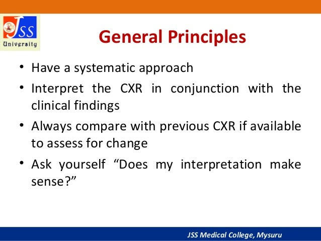Approach to Chest X-Ray and Interpretation Slide 3