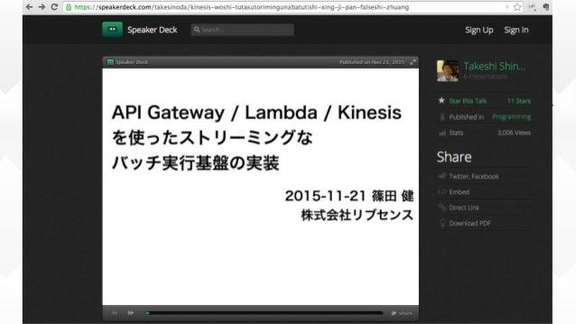 API GatewayとLambdaの活かし⽅