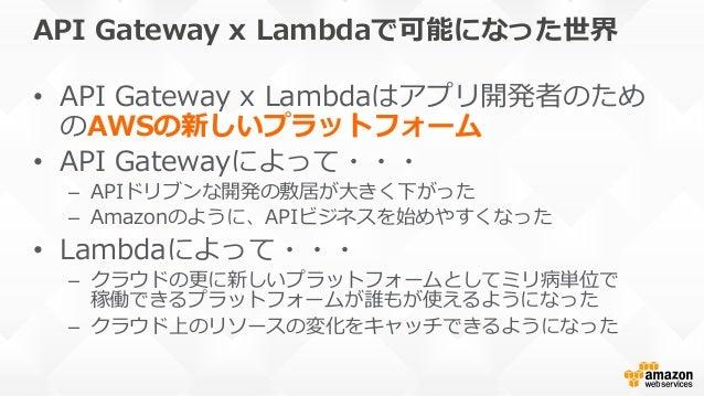 AWS Lambda and Amazon API Gateway