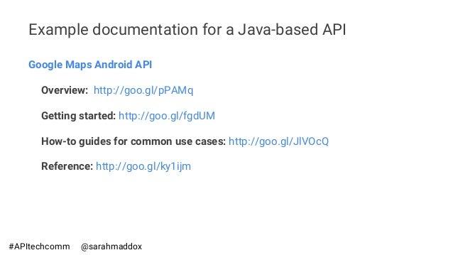 API Technical Writing