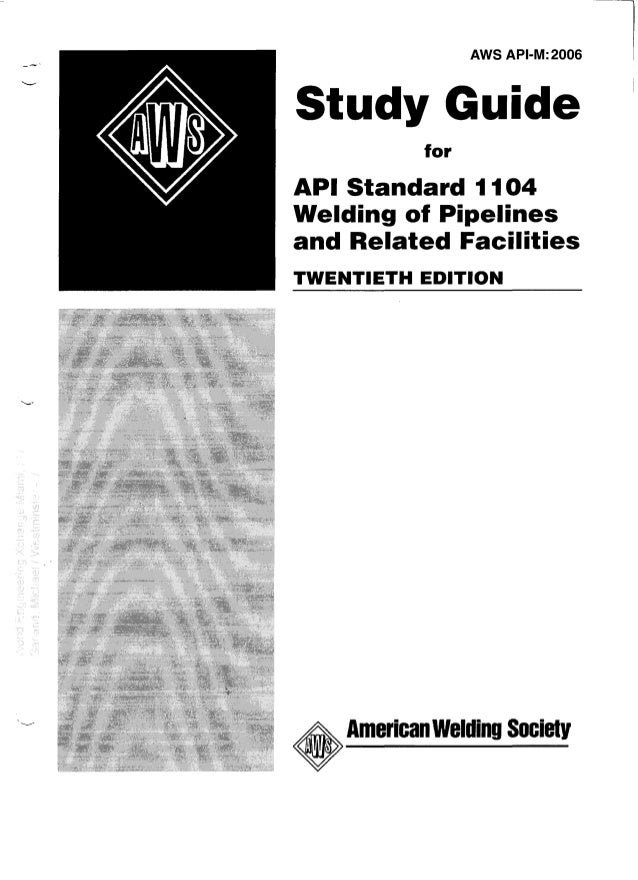 Study guide for api 1104 array api 1104 study guide rh slideshare fandeluxe