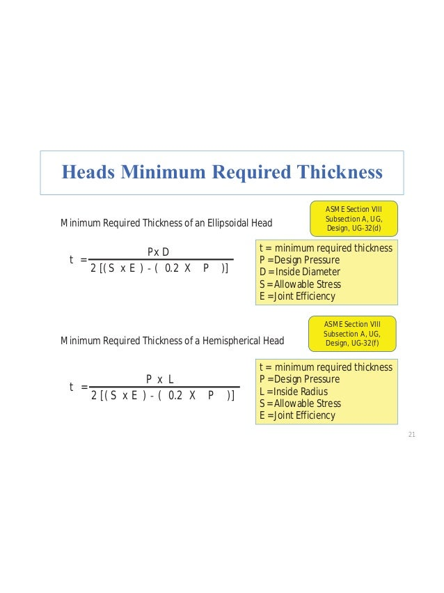 """34 Practice Question # 19 A horizontal vessel with an outside diameter of 72"""" and hemispherical heads. Shell thickness is ..."""