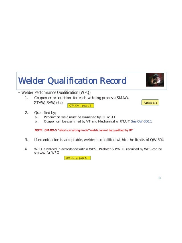 """84 INSTRUCTIONS for Checking WPS and PQR STEP 1 Locate the appropriate """"Welding Variables Chart"""" for the Welding PROCESS (..."""