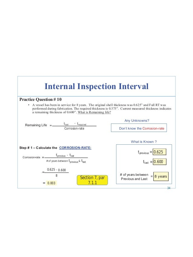 Next inspection date = Last inspection date + interval 42