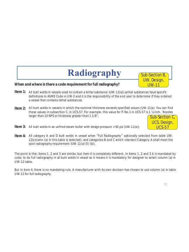 83 RT 1 or RT 2 RT 3 RT 4 NOTE: For Weld types 3, 4, 5, and 6, RT cannot be used to increase the joint efficiency. Sub Sec...