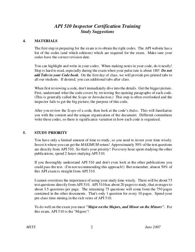 Api 510 study plan Slide 2