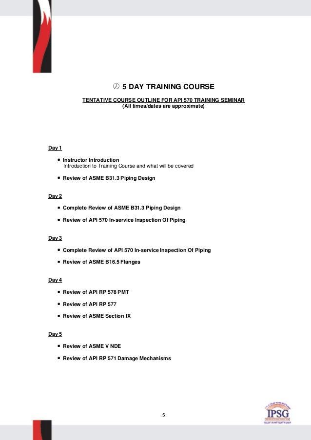 Api 570 Course Material