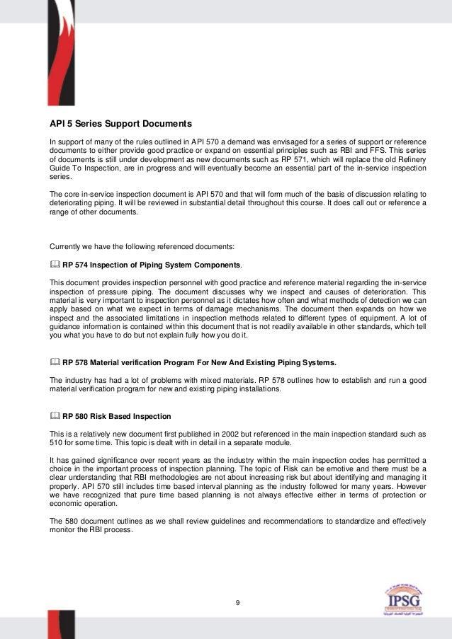 api 570 course material rh slideshare net Criminal Justice Training Don Standardized Module Training