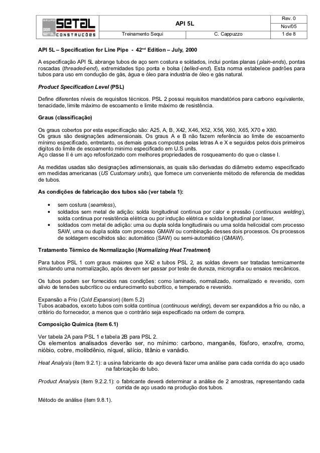 Rev. 0                                                        API 5L                                      Nov/05          ...