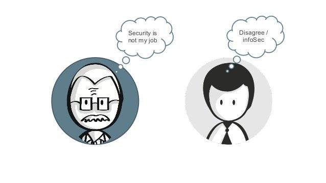 Security is not my job Disagree / infoSec
