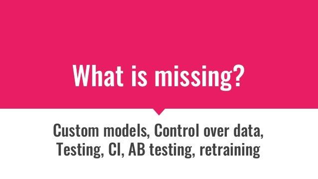 Missing API layer / model deployment