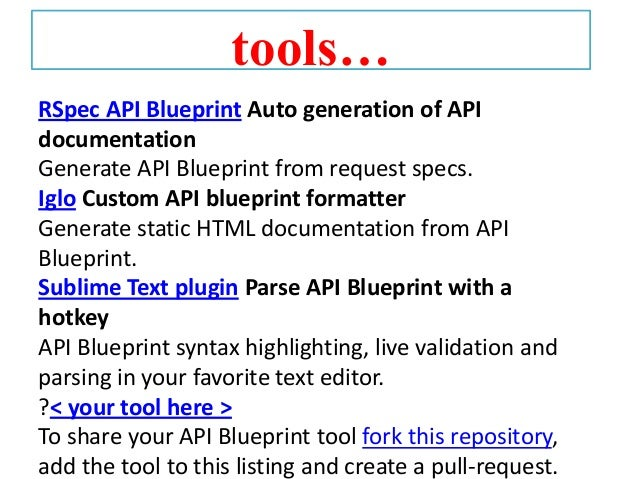 Apiary 15 tools rspec api blueprint auto generation of api documentation malvernweather Images