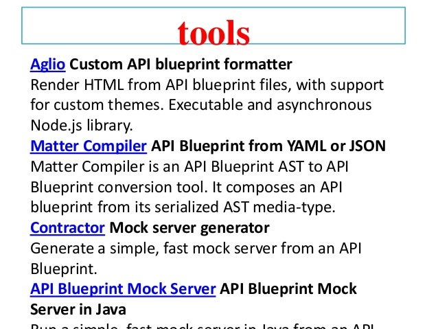 Apiary api blueprint mock server api blueprint mock server in java 17 malvernweather Gallery