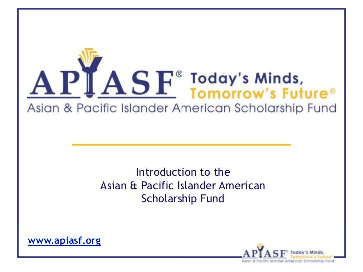 Asian Pacific Islander Scholarship Login