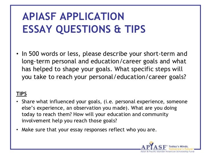how to write a scholarship essay about your career goals