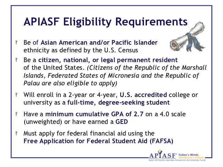 Asian pacific islander american scholarship fund apiasf