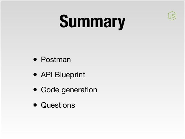 Api code generation 3 summary postman api blueprint code generation malvernweather Image collections
