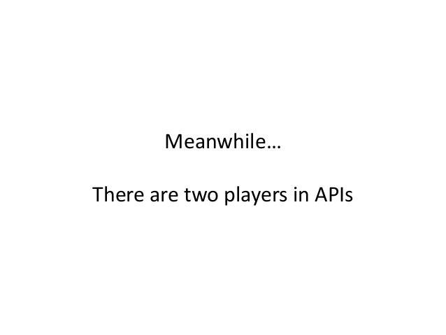 API Provider API Consumer