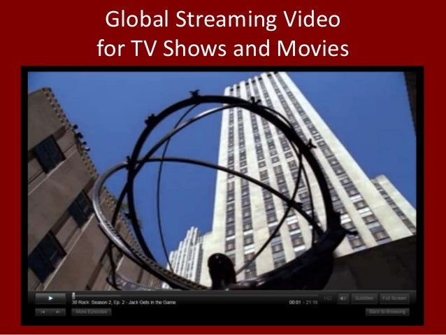 Global Streaming Video for TV Shows and Movies