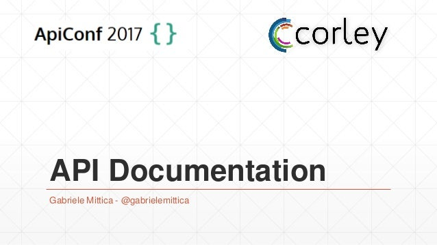 API Documentation Gabriele Mittica - @gabrielemittica