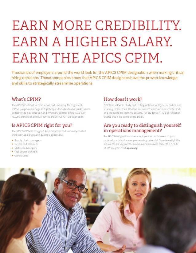 Apics Cpim Brochure