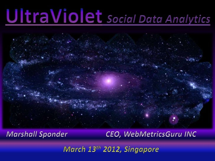 Ultra violet data