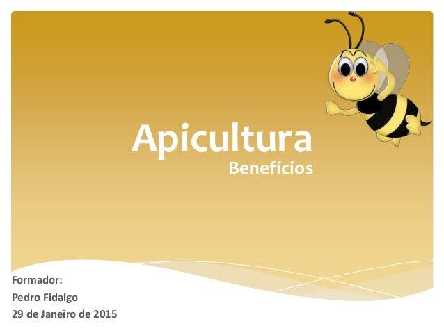 Apicultura Formador: Pedro Fidalgo 29 de Janeiro de 2015 Benefícios