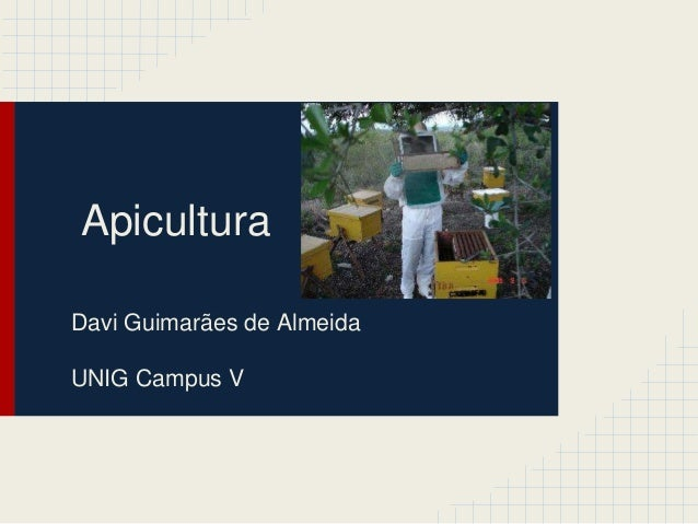 Apicultura Davi Guimarães de Almeida UNIG Campus V