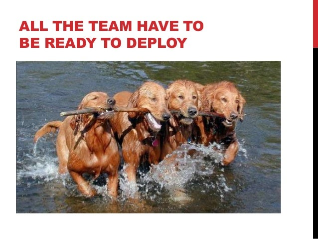 ALL THE TEAM HAVE TO BE READY TO DEPLOY