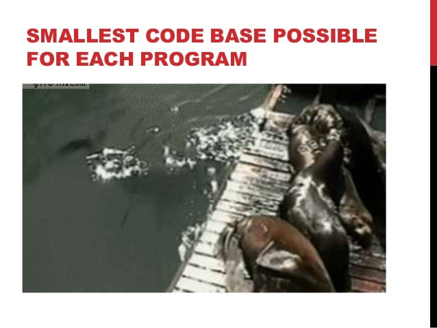 SMALLEST CODE BASE POSSIBLE FOR EACH PROGRAM