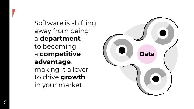 Software is shifting away from being a department to becoming a competitive advantage, making it a lever to drive growth i...