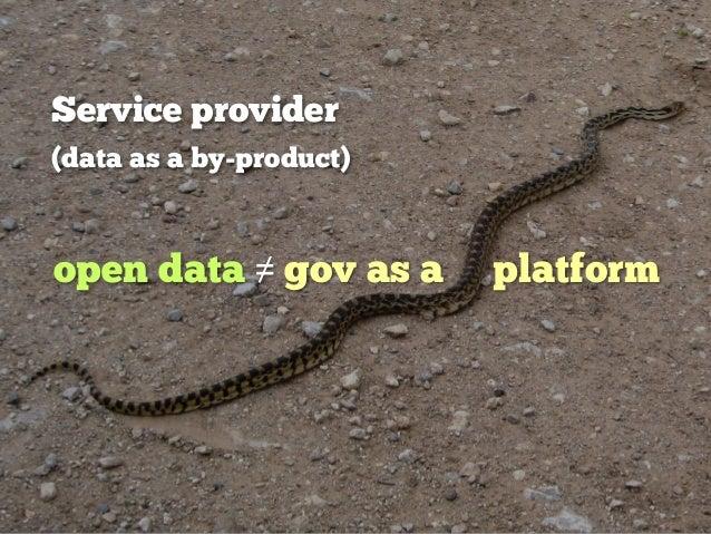data as an infrastructure