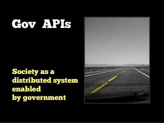Gov APIs ! Transform government into a platform