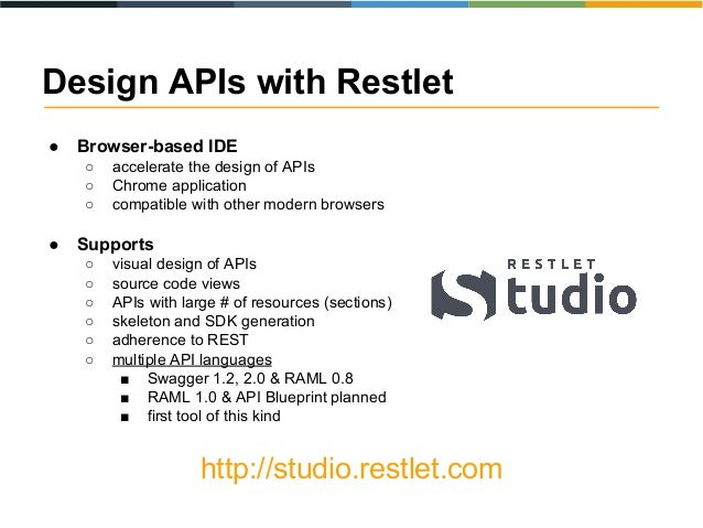 Apidays 2015 the state of web api languages sample ide restlet studio 25 malvernweather Image collections