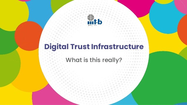 Digital Trust Infrastructure What is this really?