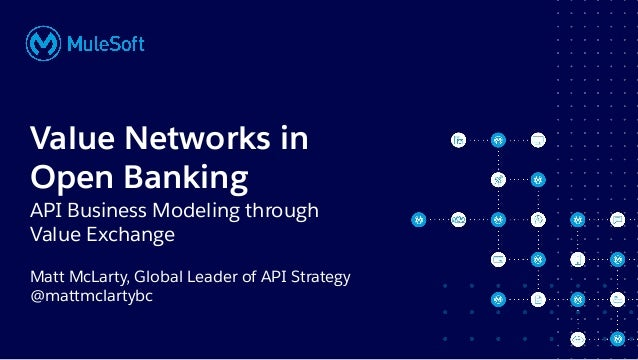 All contents © MuleSoft, LLC Matt McLarty, Global Leader of API Strategy @mattmclartybc Value Networks in Open Banking API...