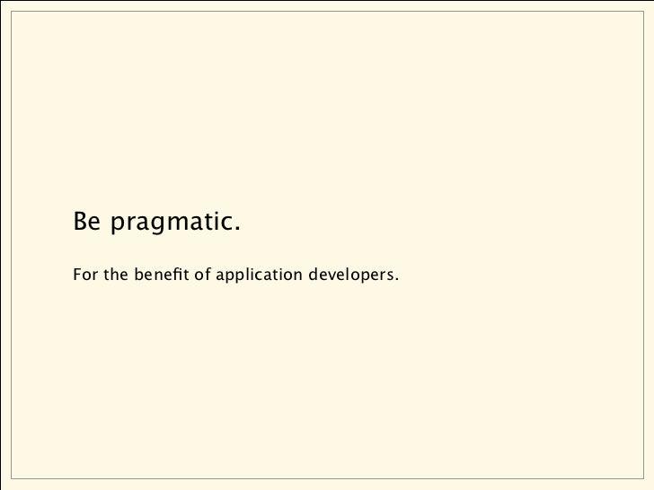 Pragmatic RESTful APIs are a design problem.